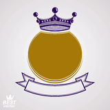 Vector ring with 3d imperial crown  Royalty Free Stock Photography