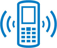 Vector ringing cell phone illustration Stock Photo