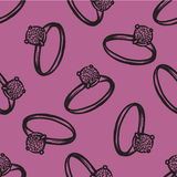 Vector rings seamless pattern. Modern texture. Repeating endless abstract hand drawn background.  Stock Image