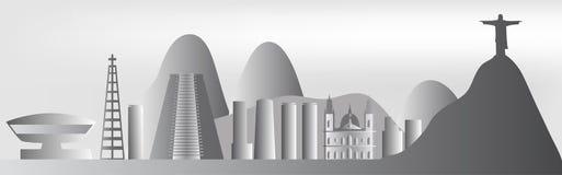 Vector Rio de Janeiro skyline Stock Photography