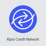 Ripio Credit Network Virtual Currency - Vector Illustration. Royalty Free Stock Image