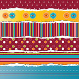 Vector ripped paper stripes. For card or scrapbook design Stock Photos