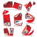 Vector ripped tag and sticker  Stock Image