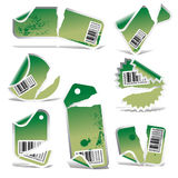 Vector ripped tag and sticker  Stock Photography