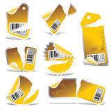 Vector ripped tag and sticker  Royalty Free Stock Photo