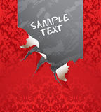 Vector ripped wallpaper Royalty Free Stock Photography