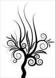 Vector rizado del árbol stock de ilustración