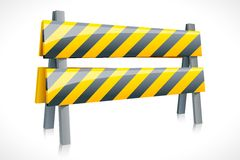 Vector Road Barrier Royalty Free Stock Photo