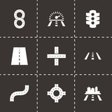 Vector road icon set Stock Photography
