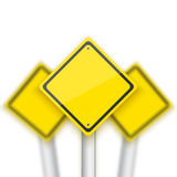 Vector Road Red Stop Sign with Blurred Signs Behind. Realistic V Royalty Free Stock Photography