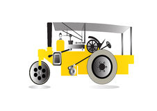 Vector road roller Stock Image