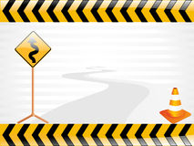 Vector road sign illustration Royalty Free Stock Photography