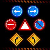 Vector road signs Royalty Free Stock Image