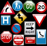 Vector road signs Royalty Free Stock Photos