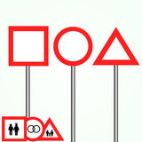 Vector road signs Royalty Free Stock Photography
