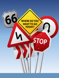 Vector road signs stock illustration