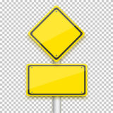Vector Road Yellow Sign. Realistic Vector EPS10  Road Si Royalty Free Stock Photos