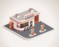 Vector Roadside Gas Station XXL Icon Royalty Free Stock Photo