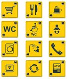 Vector roadside services signs icon set. Part 2 Royalty Free Stock Image