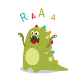 Vector roaring dinosaur Royalty Free Stock Photo