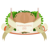 Vector roast turkey for Thanksgiving Day Stock Photography