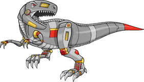 Vector of a Robot T-Rex Dinosaur Royalty Free Stock Images