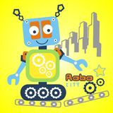 Vector robot. For wallpaper wall Stock Photos