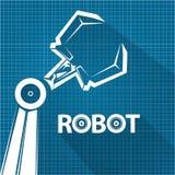 Vector Roboterarmsymbol auf Planpapierhintergrund Roboterhand und -schmetterling HD und reich einzeln aufgeführtes abstraktes Mus vektor abbildung