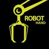 Vector robotic arm symbol. robot hand Stock Photos