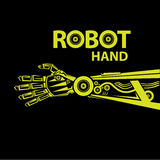 Vector robotic arm symbol. robot hand Stock Image