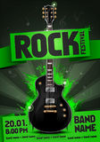 Vector rock festival flyer design template for party Stock Photography