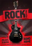 Vector rock festival flyer design template for party Stock Photos