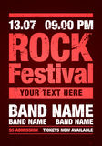 Vector rock festival flyer design template for party Stock Image