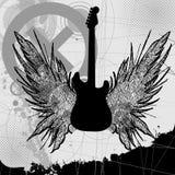 Vector Rock Guitar Stock Photo