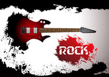 Vector rock guitar background Stock Images
