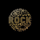 Vector rock music concept Royalty Free Stock Photography