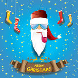 Vector rock n roll santa claus Stock Images