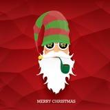 Vector rock n roll santa claus Royalty Free Stock Image