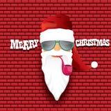 Vector rock n roll santa claus Royalty Free Stock Photography