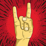 Vector rock n roll symbol Stock Photos