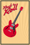 Rock and roll. Vector rock and roll retro poster Stock Photos