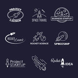 Vector rocket design logo set isolated Stock Photography