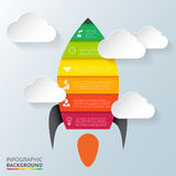 Vector rocket element for infographic. Stock Photos