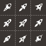 Vector rocket icon set Stock Photography