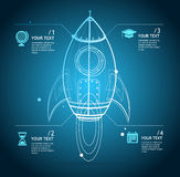 Vector rocket infographic Royalty Free Stock Photography