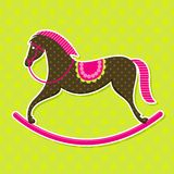 Vector Rocking Horse Baby Card Stock Photos
