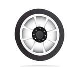 Vector a roda e a borda ilustração stock