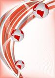 Vector rode abstracte achtergrond met bol Stock Afbeelding