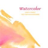 Vector Rode en Gele Waterverfvlekken Royalty-vrije Stock Fotografie