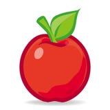 Vector rode geïsoleerde appel Stock Afbeelding